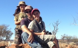 Matt Letcher and his daughters (Natalie & Katie) at Broken Hill.