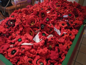 A pile of poppies