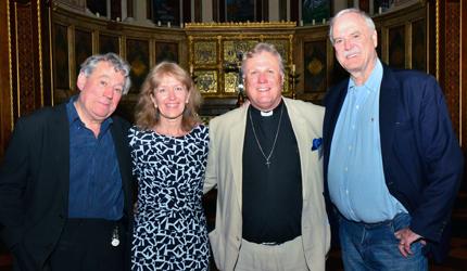 From left: Terry Jones, Joan Taylor, Richard Burridge and John Cleese