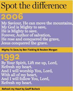 hillsong lyrics comparison