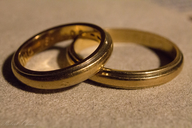 Two male wedding rings