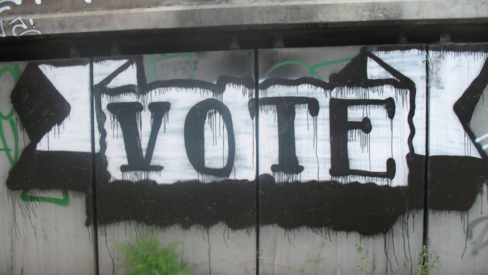 Vote in graffiti