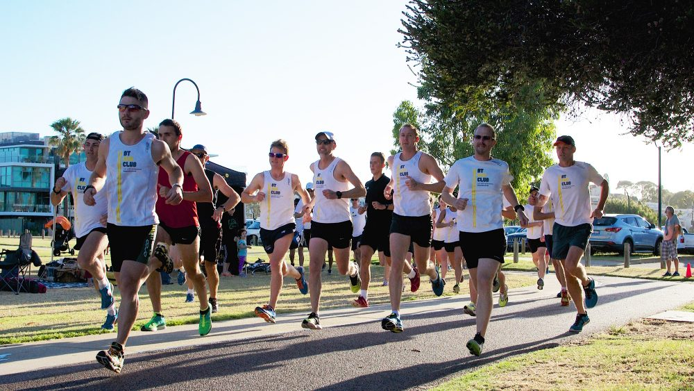 The BT Run Club in action, Perth, WA