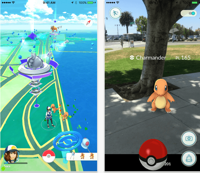 A look at the Pokemon GO app.