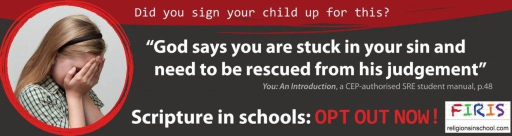 The billboard purchased by anti-religion in schools group FIRIS