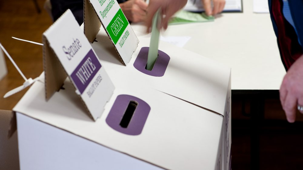 Ballot boxes in Adelaide.