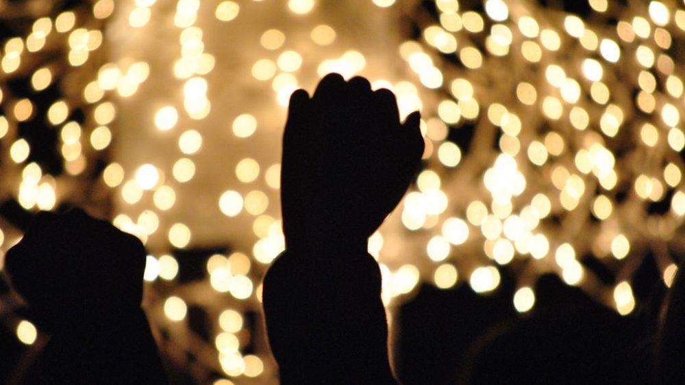 Raising your hands in worship