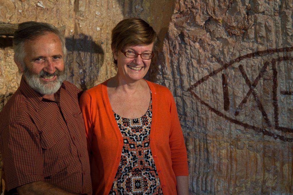 Geoff and Tracey Piggott, Catacomb Church, Coober Pedy