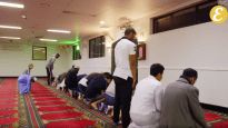 Muslims pray at Minto mosque