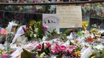 Martin Place, Sydney, fills with flowers after the Sydney siege, December 2014