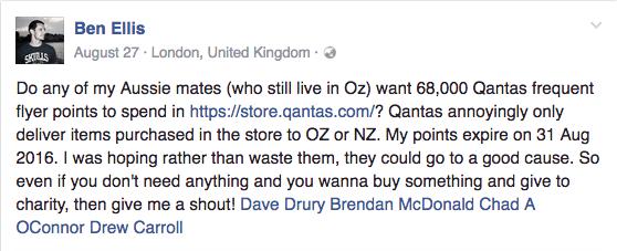 Ben Ellis' Facebook appeal