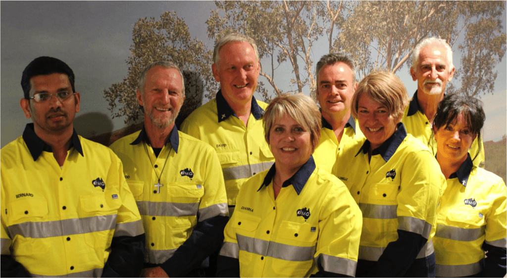 David Bradbury (third from left) with the team of Fortescue Metals chaplains