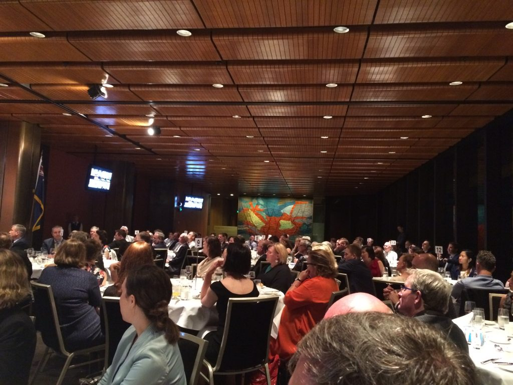 A full house at the business dinner for the City to City Renewing My workplace conference
