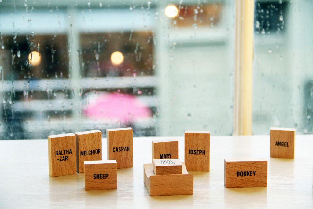 Minimal Nativity Set by Emilie Voirin