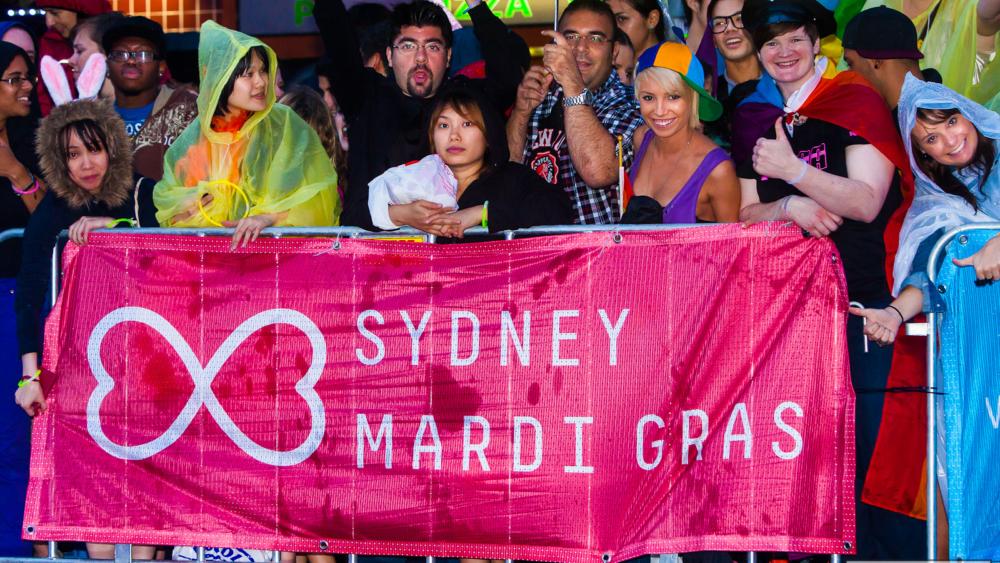 The Sydney gay and lesbian mardi gras