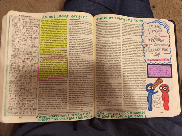 Reagan decorated every page of this Bible