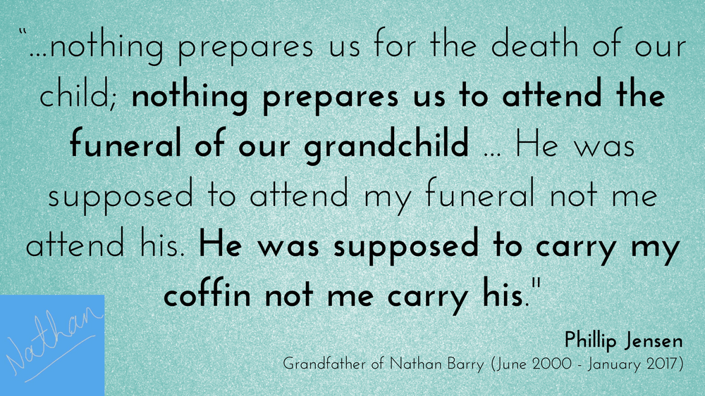 Popular preacher Phillip Jensen reflects on the death of his grandson