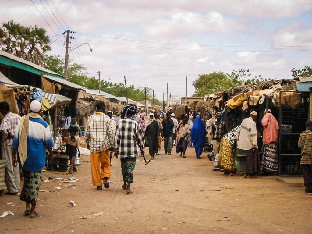 Street scene in Somalia