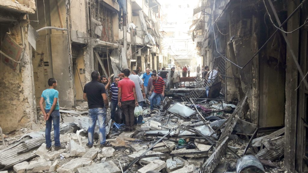 Destruction in Aleppo, Syria