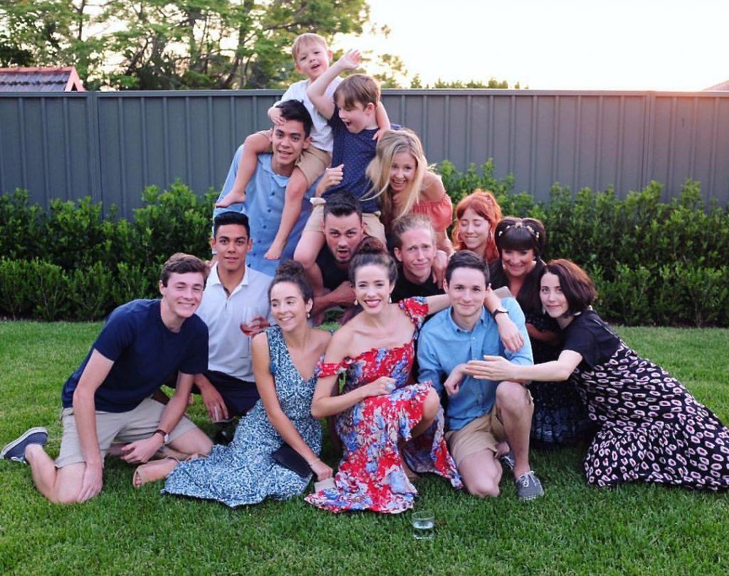 Pat and Philip's 14 grandchildren.