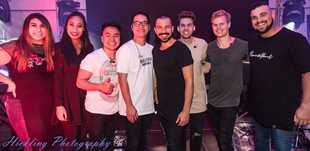 The Planetshakers team supporting Bible Society Australia's Bicentenary.