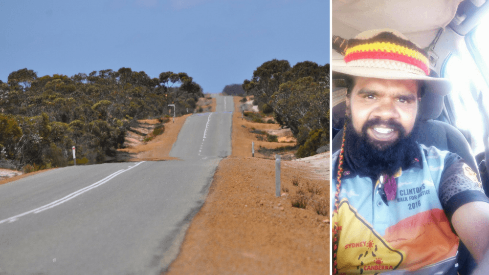 Clinton Pryor walked for justice across Australia.
