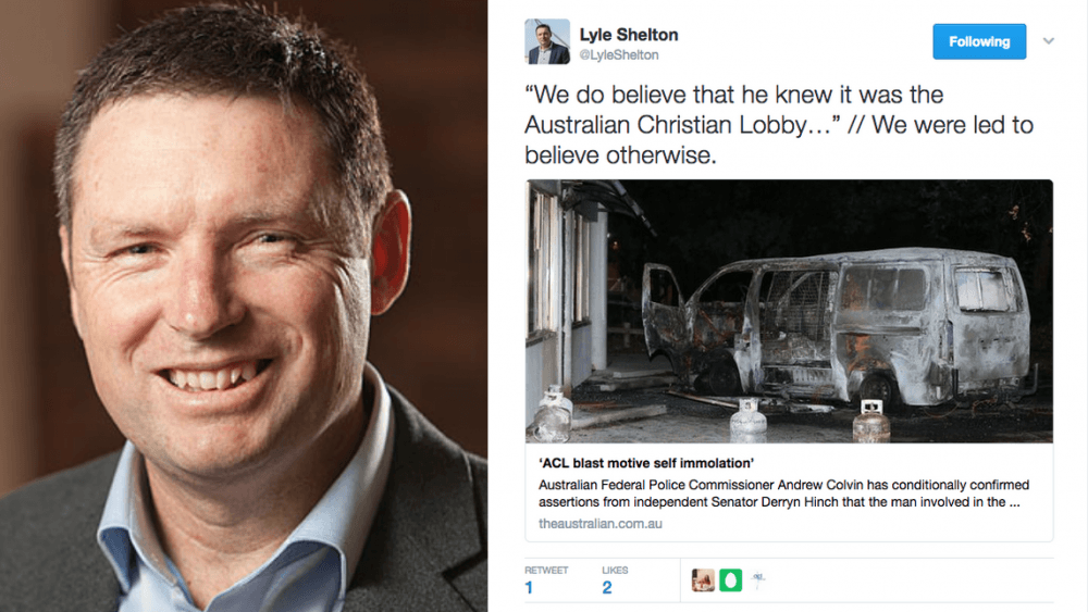 Lyle Shelton doubts AFP's conclusion about explosion in December