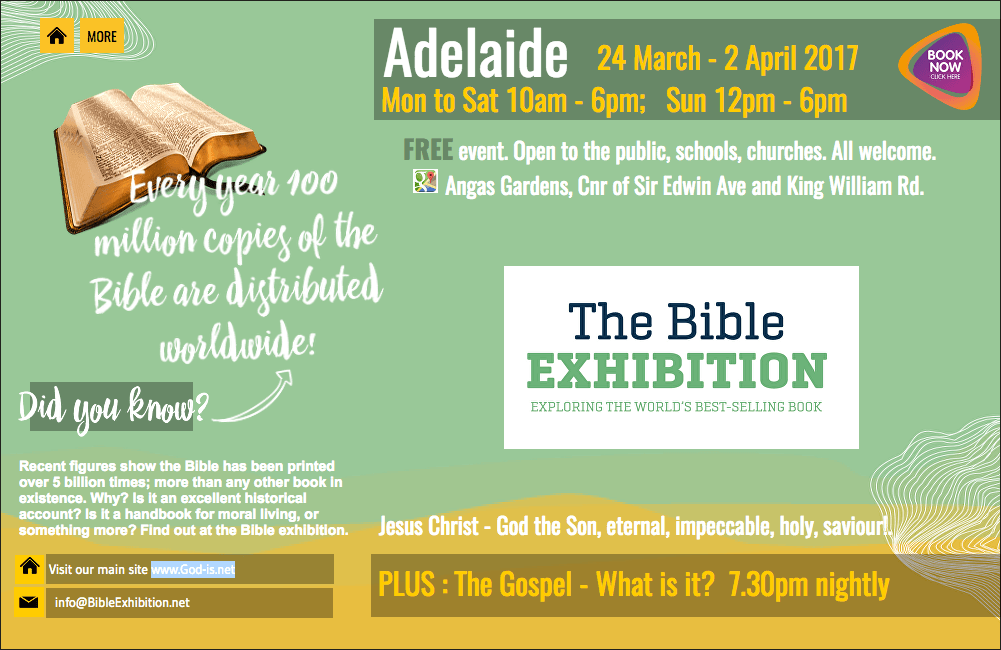 The Bible exhibition is on all week