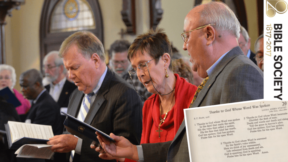 Some of the greatest hymns have been penned in celebration of the Bible Society