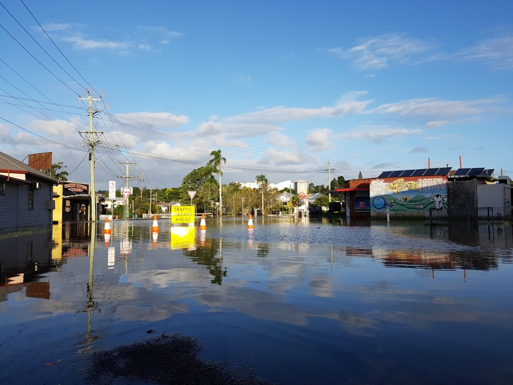 Flooding in Lismore caused by Cyclone Debbie