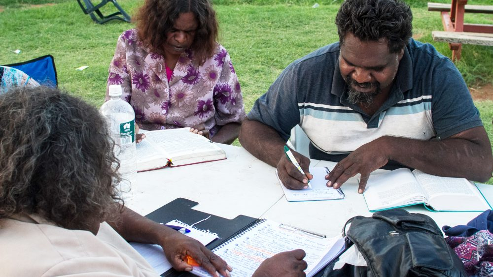 Pukatja Bible translation workshop with Pitjantjatjara translators