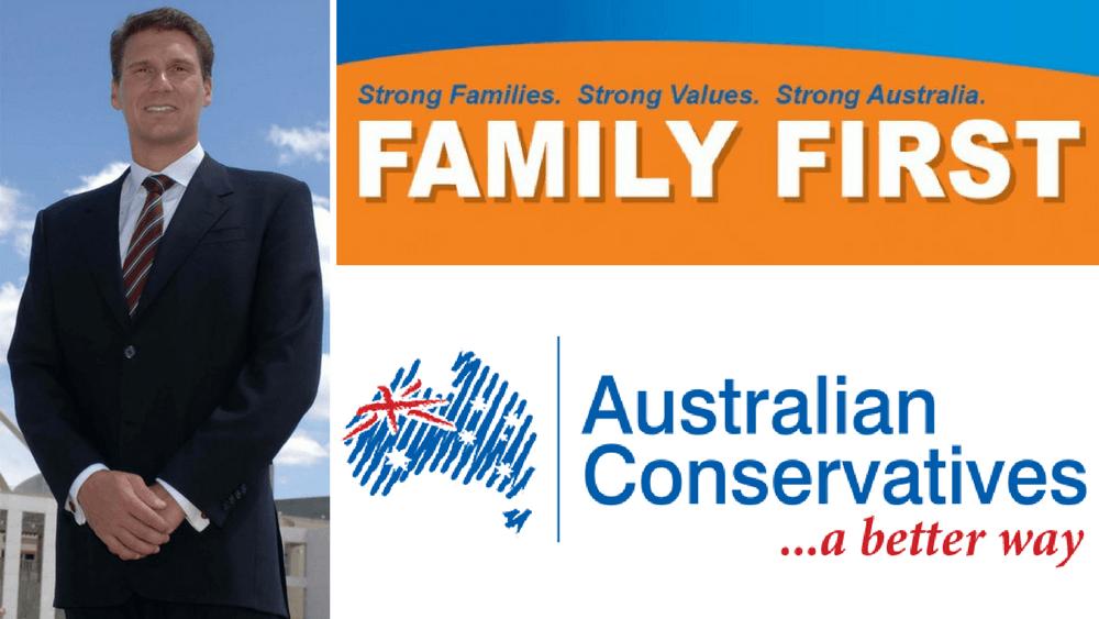 Family First and Australian Conversatives merge under the leadership of Cory Bernardi