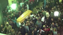 Funeral of victim of the ISIS bomb at the St. George Coptic church in Tanta, Egypt
