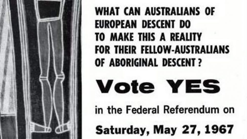 """Vote YES"" 1967 referendum poster"