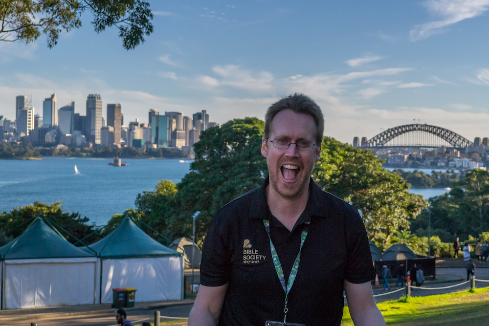 Bible Society staff member Mark Barry was especially excited to be at the zoo