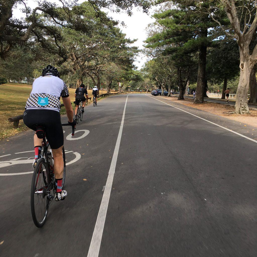 Riding around Centennial Park