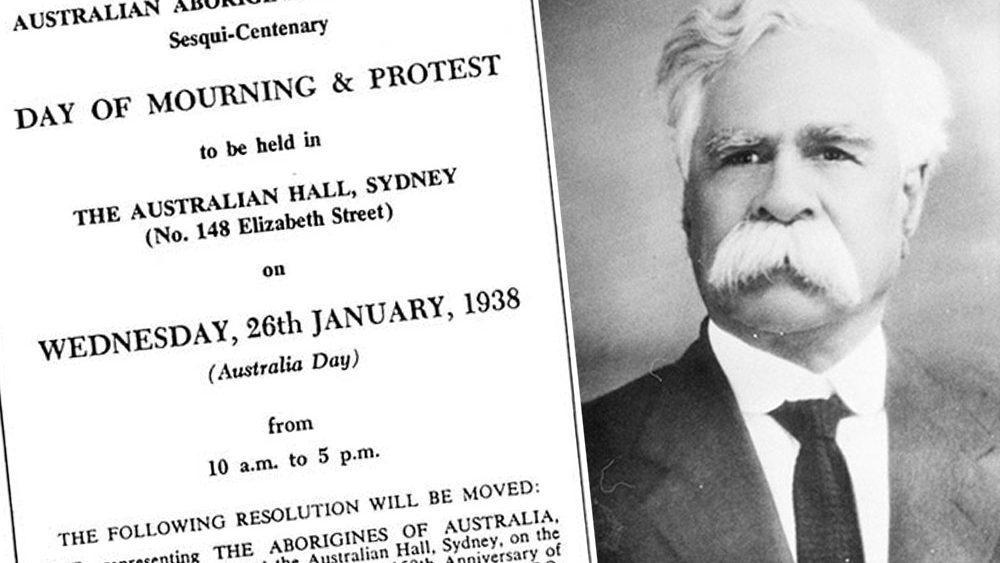 Aboriginal protest notice with William Cooper