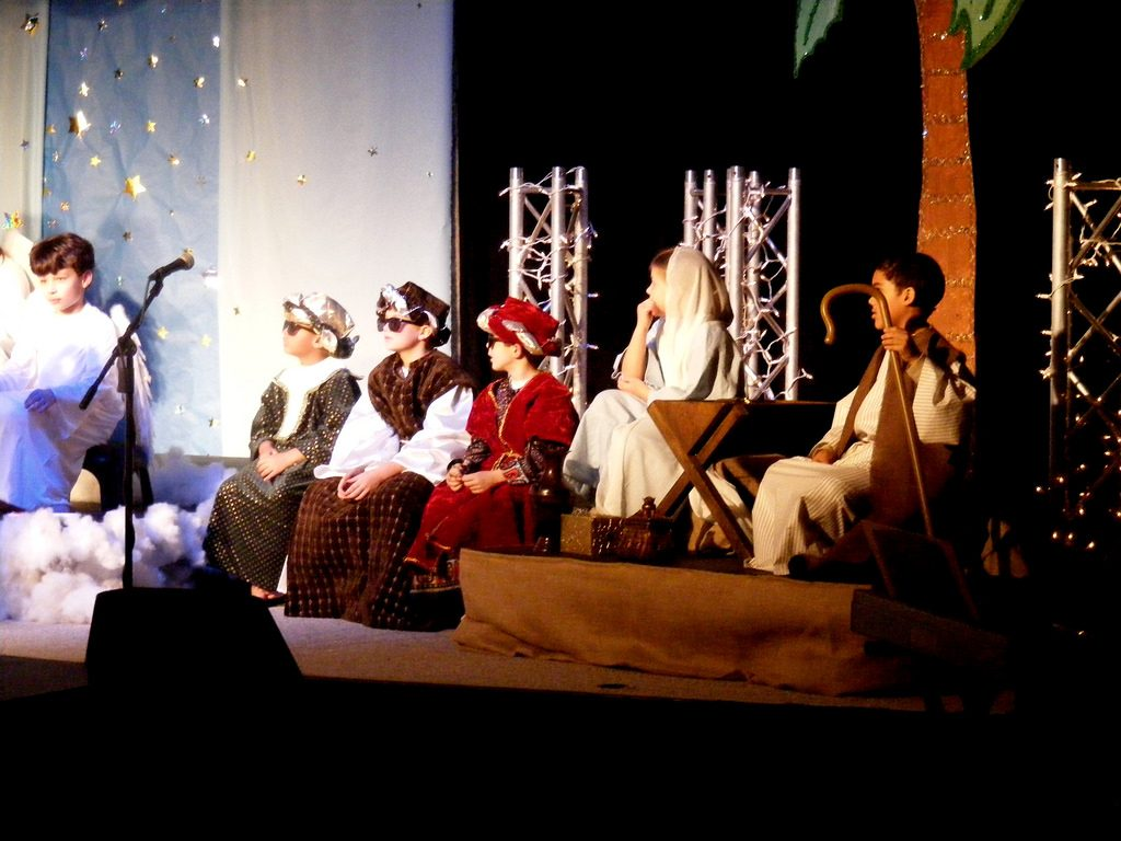 """First Church Birmingham's """"Three Wise Men"""" hanging out"""