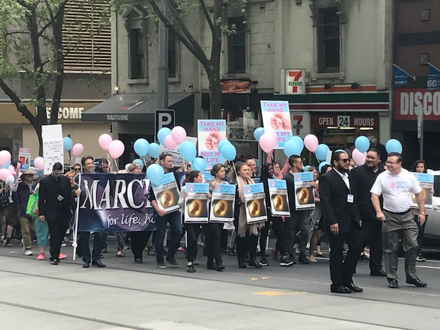The annual March for the Babies rally was held in Melbourne on Saturday, with 2000 turning out, according to organisers.