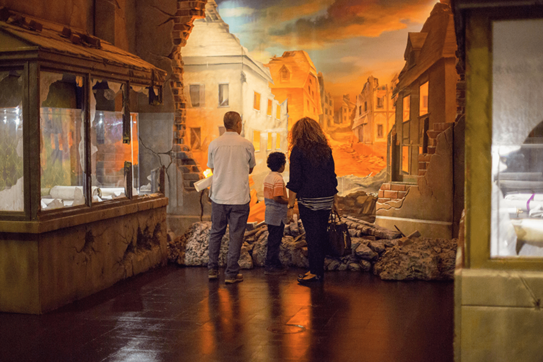 One of the exhibits at the museum of the Bible