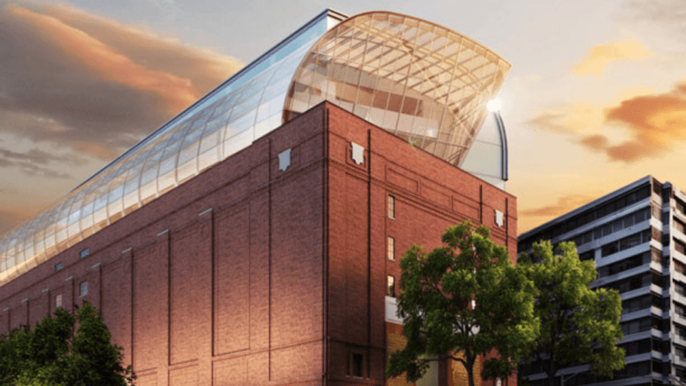 Artists impression of what the Museum of the Bible will look like