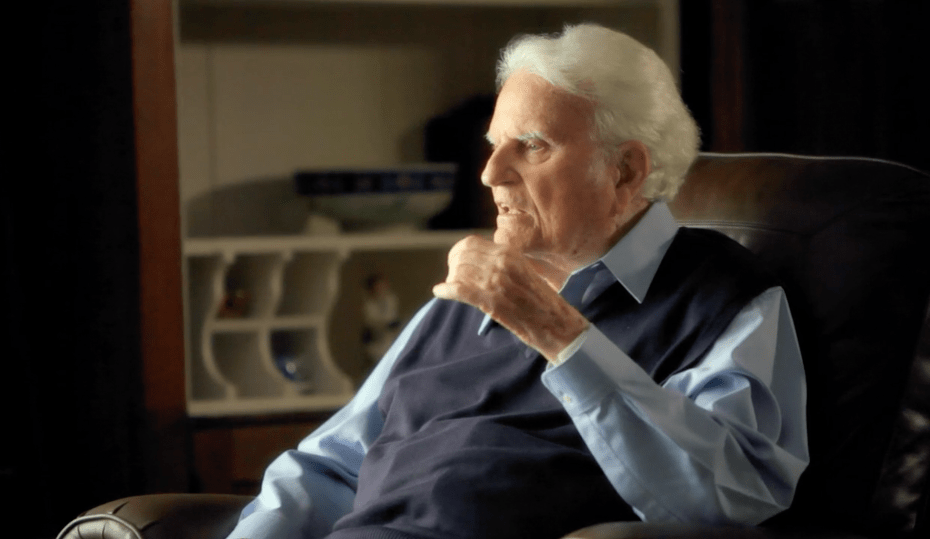 Billy Graham in 'The Cross' film, an Easter outreach for local churches
