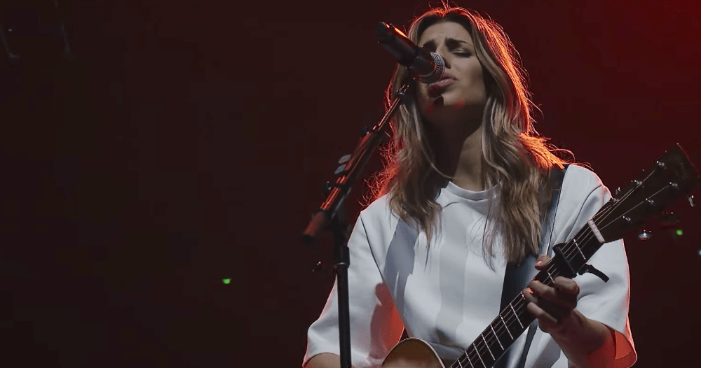 Hillsong Worship's Brooke Ligertwood singing 'What A Beautiful Name'