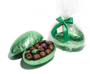 Haigh's milk chocolate egg filled with assorted chocolates
