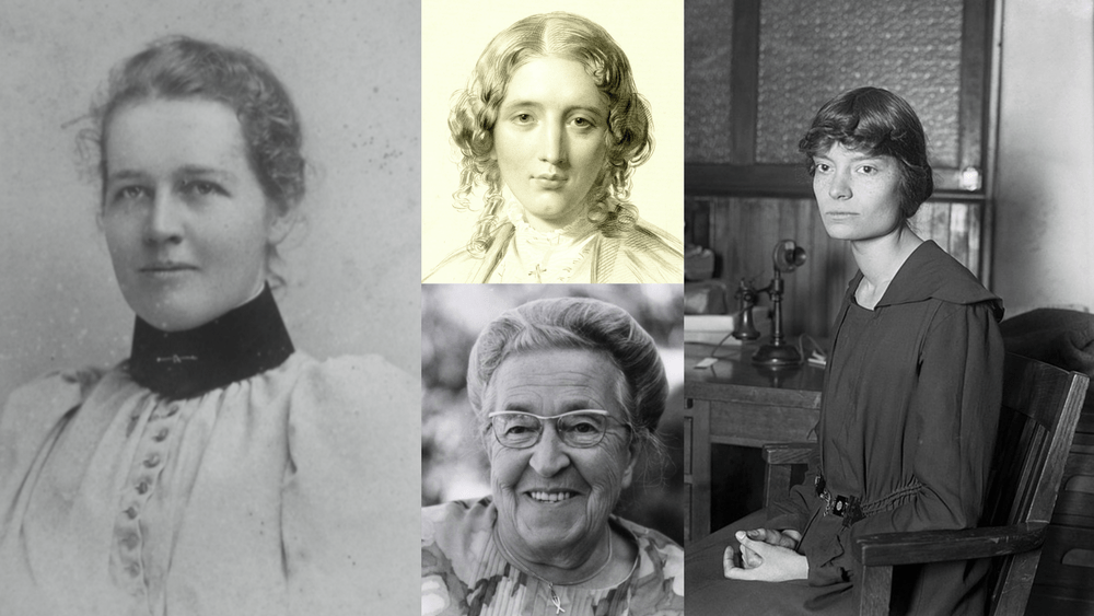 Clockwise from left: Amy Oxley Wilkinson, Harriet Beecher Stowe, Dorothy Day and Corrie Ten Boom