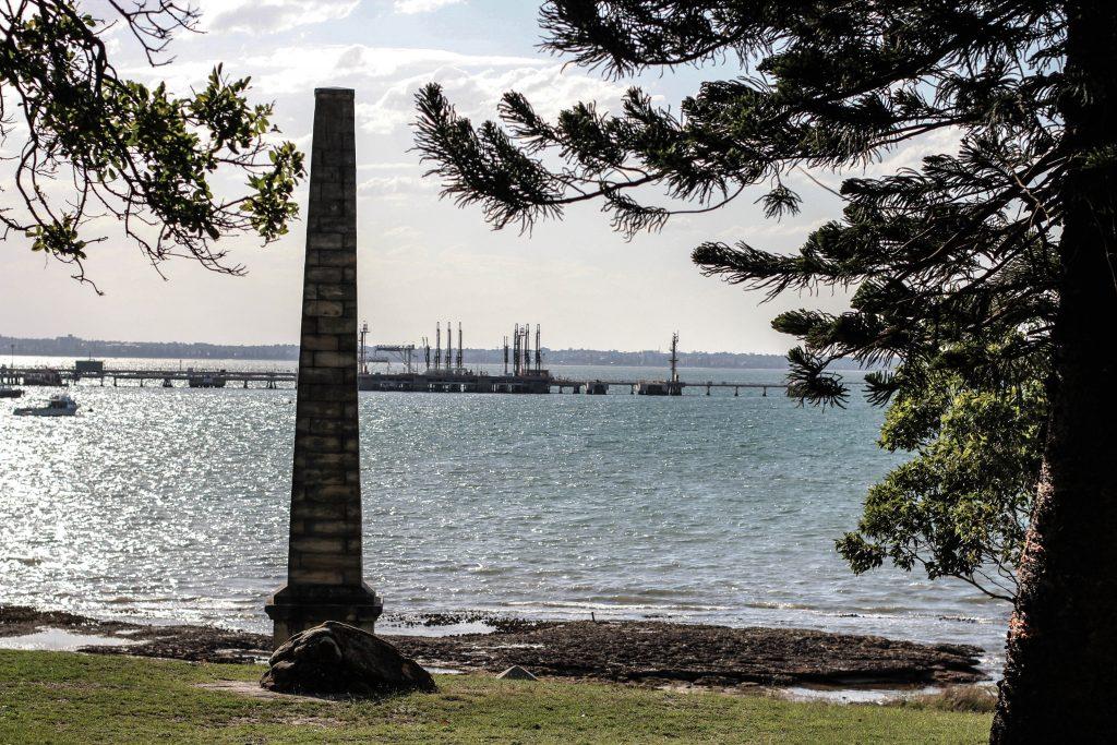 The commemorative obelisk marking Captain James Cook's landing at Kurnell.