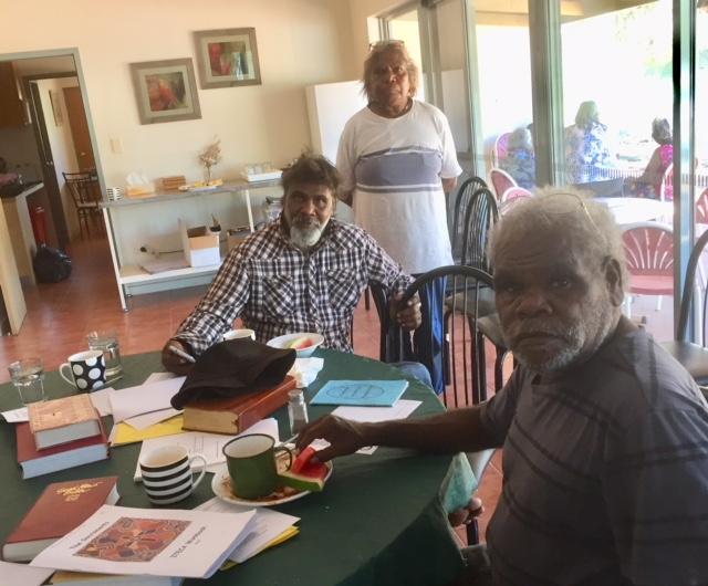 Students at the ITECA sacraments course in Alice Springs in February