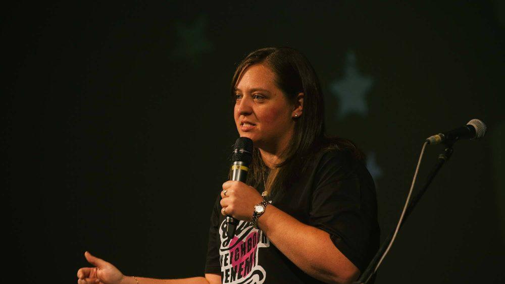 Brooke Prentis at the Surrender Conference, 2016