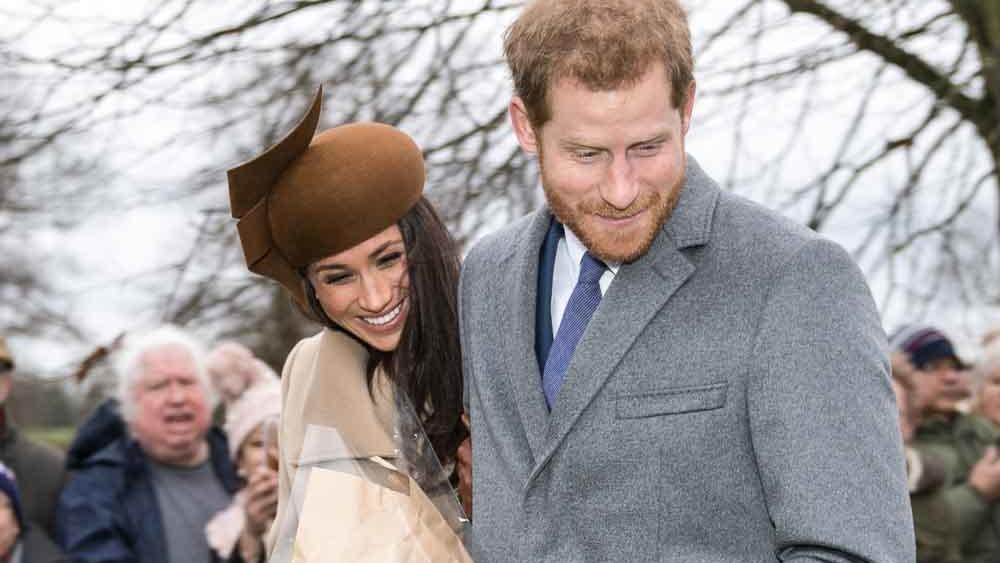 Prince Harry and Meghan Markle on Christmas Day, 2017.