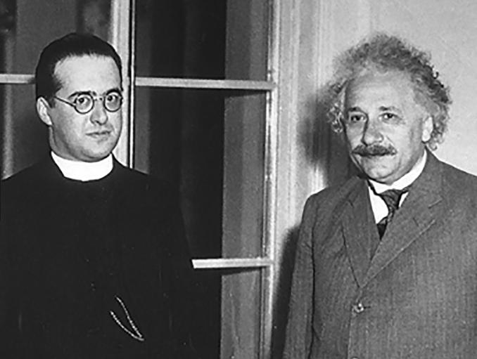 Georges Lemaître and Albert Einstein, 1933